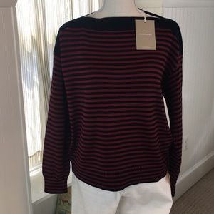 NWT Everlane boatneck/cotton sweater m